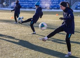 Zenit Women training at the Gazprom Training Centre
