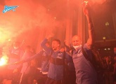 The fans' firey welcome as we returned to St. Petersburg as champions!