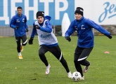 Team training before the match with Rubin Kazan